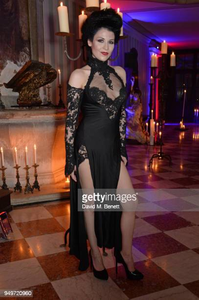 Nefer Suvio attends a party to celebrate her birthday hosted by The Count and Countess Francesco Chiara Dona Dalle Rose at Palazzo Dona dalle Rose on...