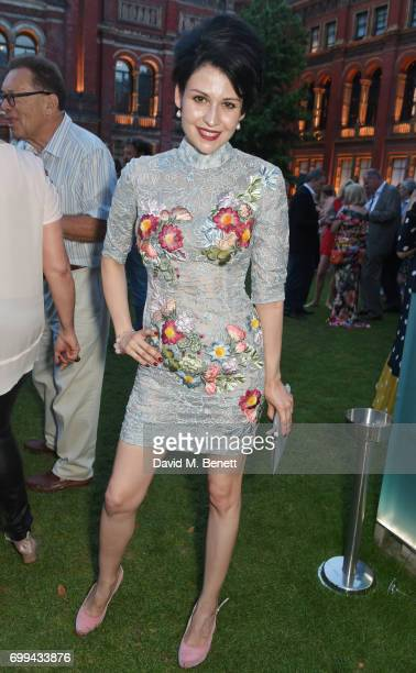 Nefer Suvio attends the 2017 annual VA Summer Party in partnership with Harrods at the Victoria and Albert Museum on June 21 2017 in London England