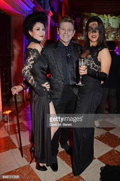 Nefer Suvio Roger Taylor and Gisella Taylor attend a party to celebrate Nefer Suvio's birthday hosted by The Count and Countess Francesco Chiara Dona...