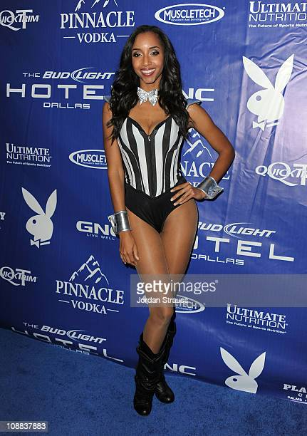 Neferteri Shepherd attends the Bud Light Hotel Playboy Party with performances by Snoop Dogg Warren G and Flo Rida on February 4 2011 in Dallas Texas