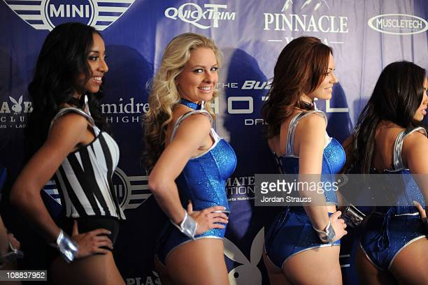 Neferteri Shepherd Shanna Mclaughlin and Kimberly Phillips attend the Bud Light Hotel Playboy Party with performances by Snoop Dogg Warren G and Flo...