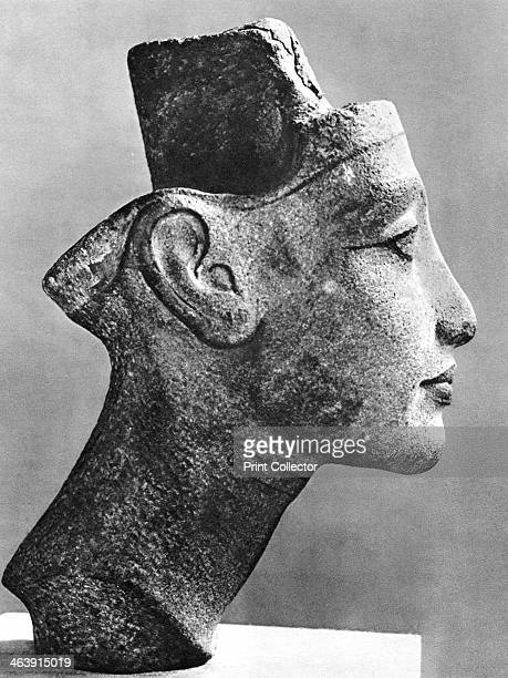 Nefertiti queen and wife of the Pharaoh Akhenaten Ancient Egyptian 14th century BC Sandstone bust Nefertiti reigned from 13531336 BC She was a...