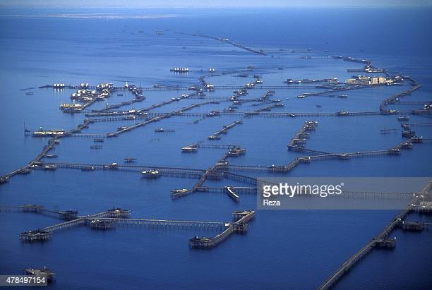 1997 Neft Dashlari Caspian Sea Baku Azerbaijan Neft Dashlari meaning Oil Rocks is an industrial settlement in the Caspian Sea comprising a series of...