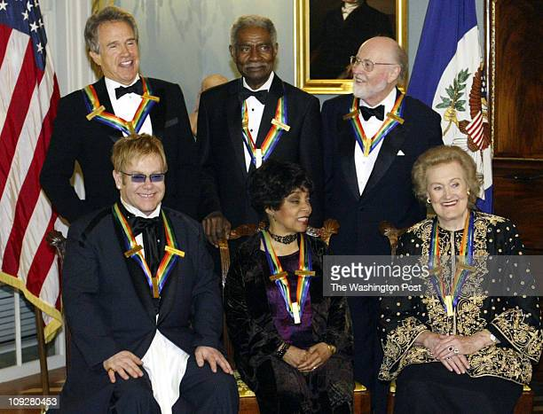 162300 PhotogPreston Keres/TWP State Dept Washington DC Kennedy Center Honorees Elton John Ruby Dee and Joan Sutherland Warren Beatty Ossie Davis and...