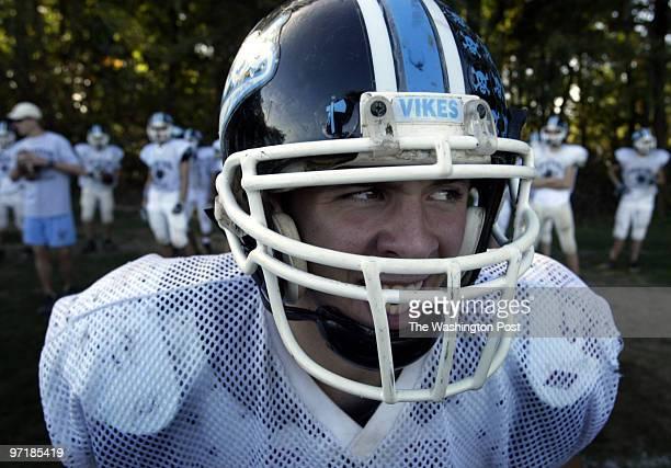 148045 PhotogPreston Keres/TWP Whitman High School Bethesda Md Whitman QB Tyler Lazear barks out cadence during offense drills