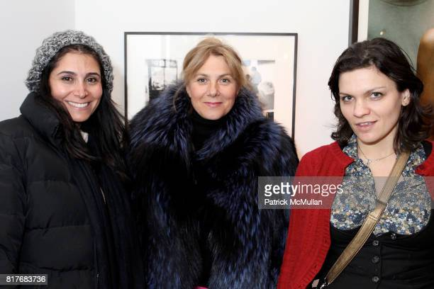 Negar Ferhangil Nastassja Many and Floanne Ankh attend THREE BOYS FROM PASADENA A Tribute to HELMUT NEWTON at Chic Gallery on December 7 2010 in New...