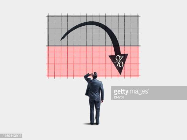 negative interest rates - sinal de percentagem imagens e fotografias de stock