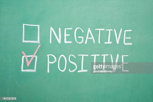 Negativa Positiva Chalkboard