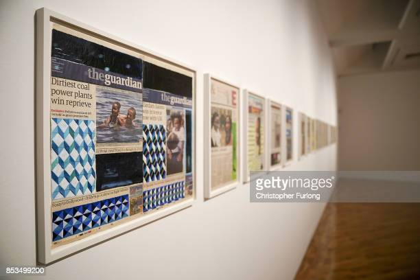 Negative Positives The Guardian Archive by artist Lubaina Himid during a press preview for the 2017 Turner Prize at The Ferens Art Gallery on...