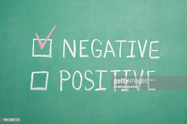 Negativo Postive Chalkboard