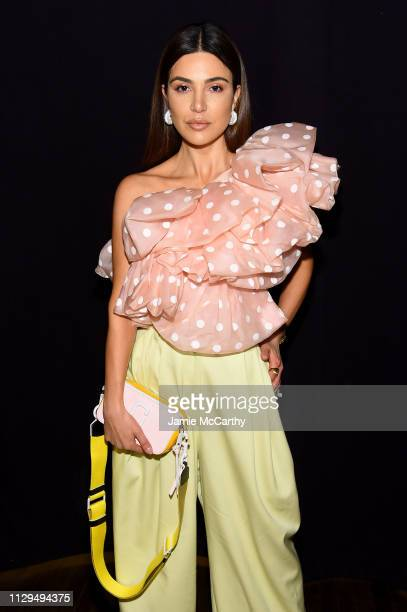 Negin Mirsalehi attends the Marc Jacobs Fall 2019 Show at Park Avenue Armory on February 13 2019 in New York City