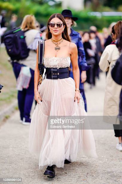 Negin Mirsalehi outside Dior during Paris Fashion Week Womenswear Spring/Summer 2019 on September 24 2018 in Paris France