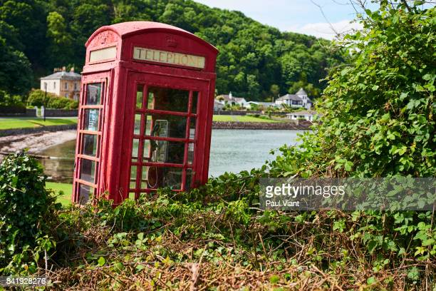 neglected telephone box