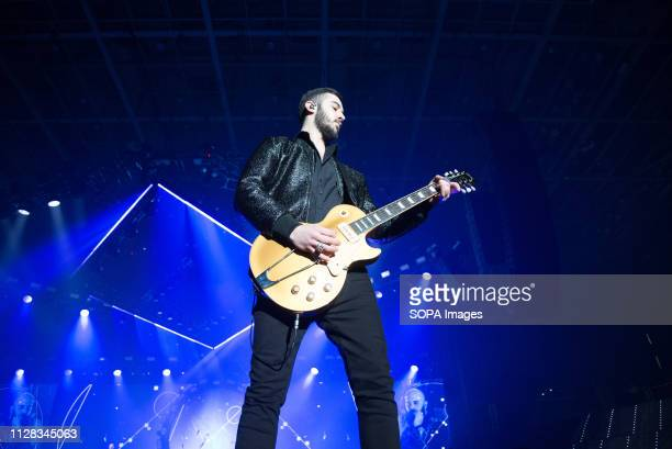 Negramaro seen performing live during their Amore Che Torni Tour 2019 at Pala Alpitour in Torino Italy