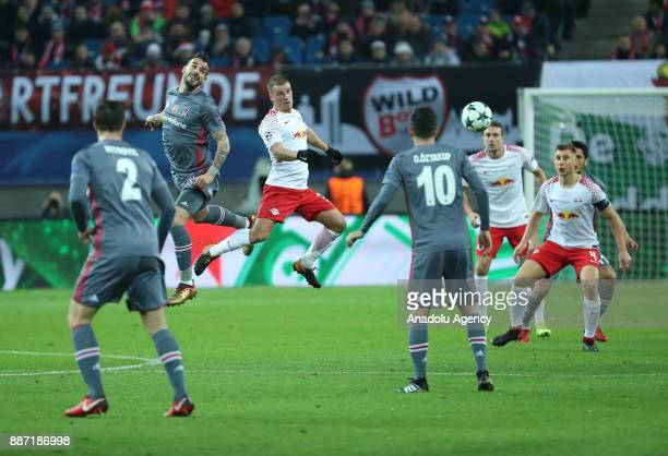 Negredo of Besiktas in action during the UEFA Champions League group G soccer match between RB Leipzig and Besiktas at the Leipzig Arena in Leipzig...