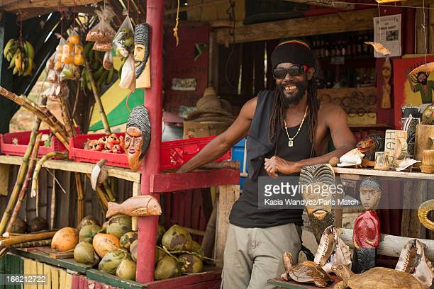 Negril village Record producer and founder of Island Records Chris Blackwell takes a personal tour around Jamaica photographed for Paris Match on...