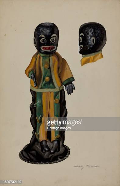 Negro Hand Puppet, circa 1936. Artist Beverly Chichester.