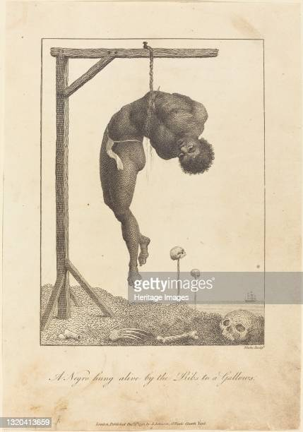 Negro hung alive by the Ribs to a Gallows, 1792. Artist William Blake.