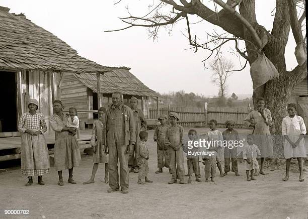 Negroes descendants of former slaves of the Pettway Plantation They are living under primitive conditions on the plantation Gees Bend Alabama