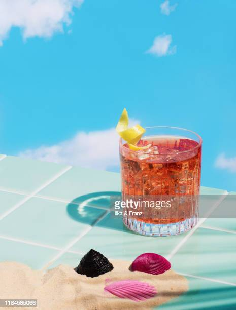 negroni cocktail - cocktail party stock pictures, royalty-free photos & images