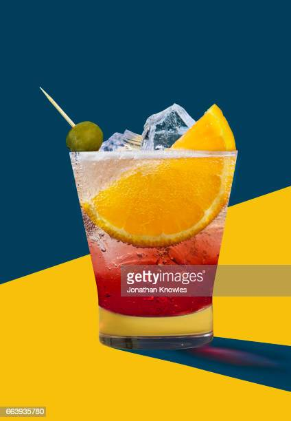 negroni - cocktail stock pictures, royalty-free photos & images