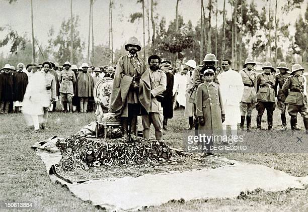 Negus Haile Selassie during an official ceremony in 1934 Ethiopia 20th century