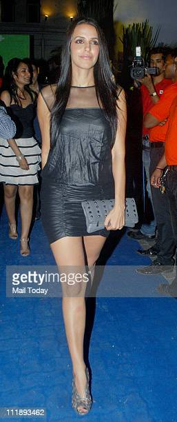 Neha Dhupia at Celebrity Locker's bash held to celebrate the success of Yuvraj Singh at the World Cup at Olive Mumbai on April 7 2011