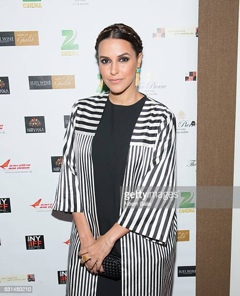 Neha Dhupia attends the closing night of the 16th Annual New York Indian Film Festival at Jack H Skirball Center for the Performing Arts on May 14...