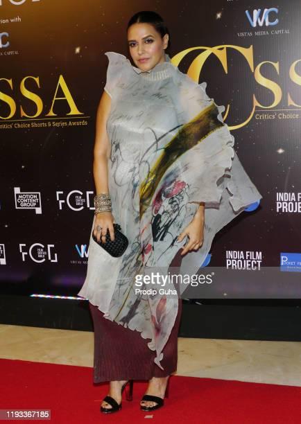 Neha Dhupia attends the Critics Choice Shorts and Series Awards on December 11, 2019 in Mumbai, India