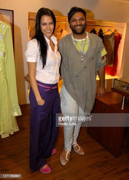 Neha Dhupia attends the Gaurav Gupta's fashion collection at AZA on July 29, 2010 in Mumbai, India