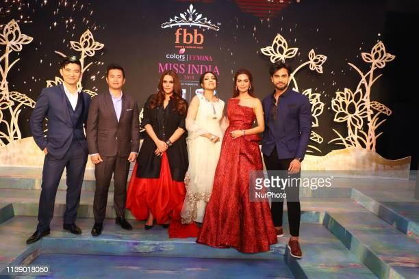 Neha Dhupia Bollywood Actress Esha Gupta Bollywood Actress Baichung Bhutia Indian Star Footballer Rohit Khandelwal Mr World Rituparna Sengupta...