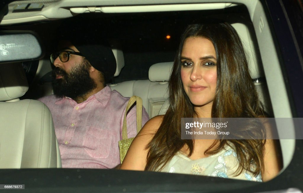 Neha Dhupia during Karan Johars 45th Birthday celebration party in Mumbai