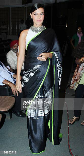 Neha Dhupia during the Baisakhi celebration in Mumbai on Friday night