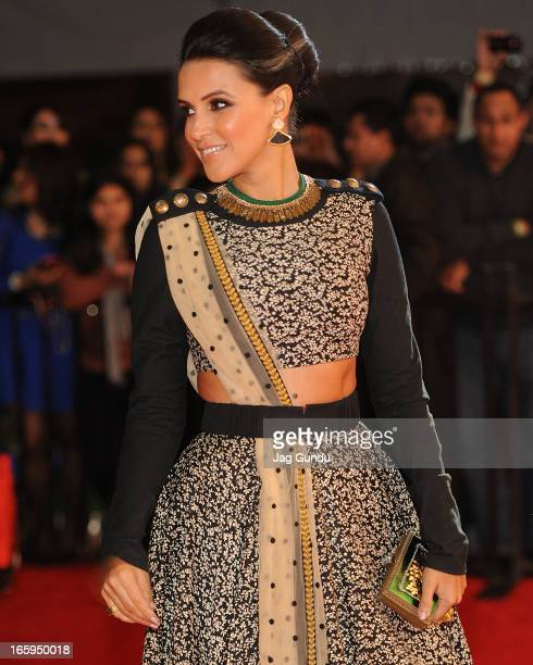 Neha Dhupia walks the red carpet at The Times Of India Film Awards on April 6, 2013 in Vancouver, Canada.