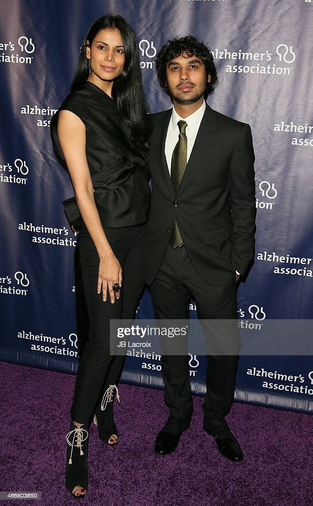 Neha Kapur, left, and Kunal Nayyar attend the 23rd Annual 'A Night At Sardi's' To Benefit The Alzheimer's Association at The Beverly Hilton Hotel on March 18, 2015 in Beverly Hills, California.