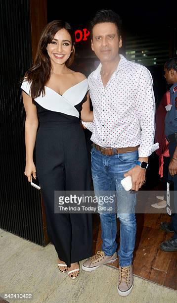 Neha Sharma and Manoj Bajpai during the world premiere of the movie Kriti in Mumbai