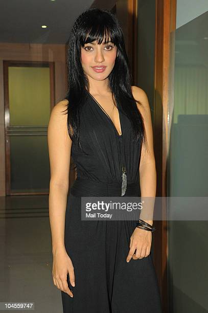 Neha Sharma during a press conference for the film 'Crook' in Mumbai on September 29 2010