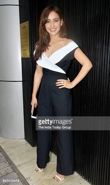 Neha Sharma during the world premiere of the movie Kriti in Mumbai