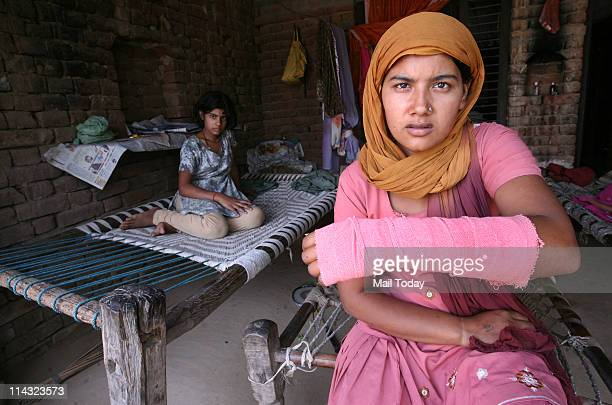 Neha Sharma who was injured in the May 7 violence between Bhatta Parsaul villagers and UP Police More than 1500 villagers are still missing ten days...