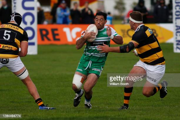 Nehe Milner-Skudder in action during the round 9 Mitre 10 Cup match between Manawatu and Taranaki at Manfeild on November 08, 2020 in Feilding, New...