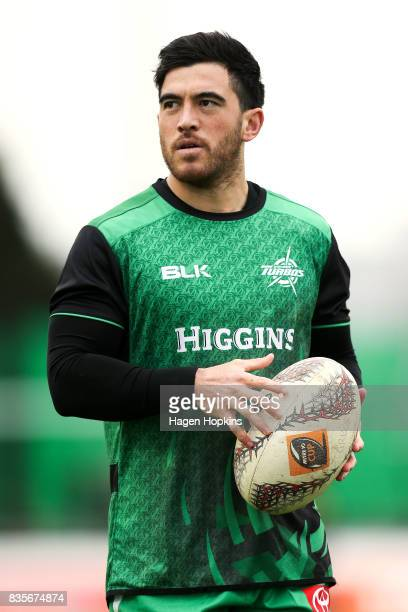 Nehe Milner-Skudder of Manawatu warms up during the round one Mitre 10 Cup match between Manawatu and Wellington at Central Energy Trust Arena on...