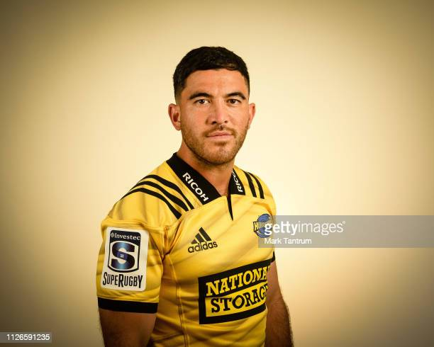 Nehe MilnerSkudder poses during a Hurricanes Super Rugby headshots session on February 01 2019 in Wellington New Zealand