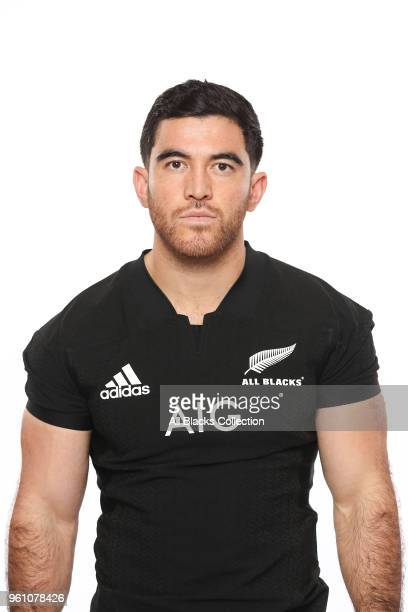 Nehe MilnerSkudder poses during a New Zealand All Blacks headshots session on May 21 2018 in Auckland New Zealand