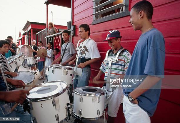 Neighborhood Band Practicing