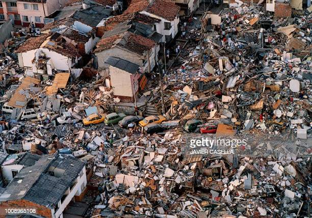A neighborhood in Armenia Colombia lies in ruin after the city 200 miles west of Bogota was rocked by an earthquake 25 January The earthquake which...