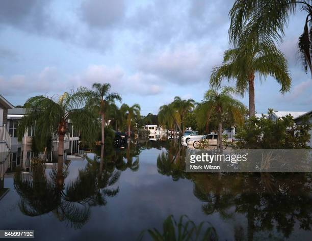 A neighborhood remains flooded by Hurricane Irma on September 12 2017 in Bonita Springs Florida On Sunday Hurricane Irma hit Florida's west coast...