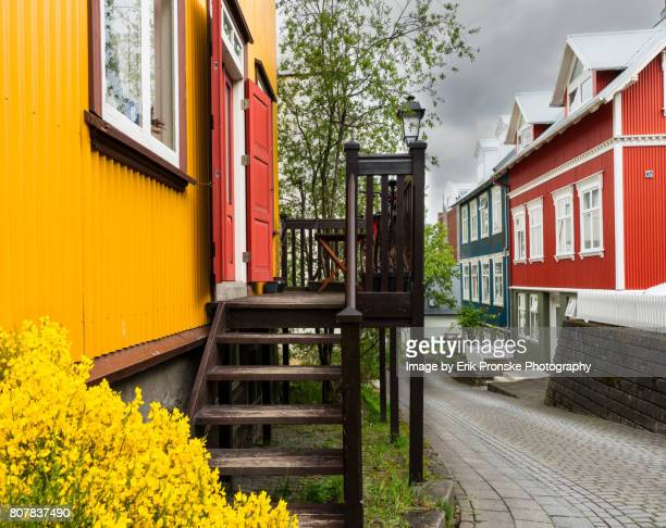 neighborhood, reykjavik - reykjavik stock pictures, royalty-free photos & images