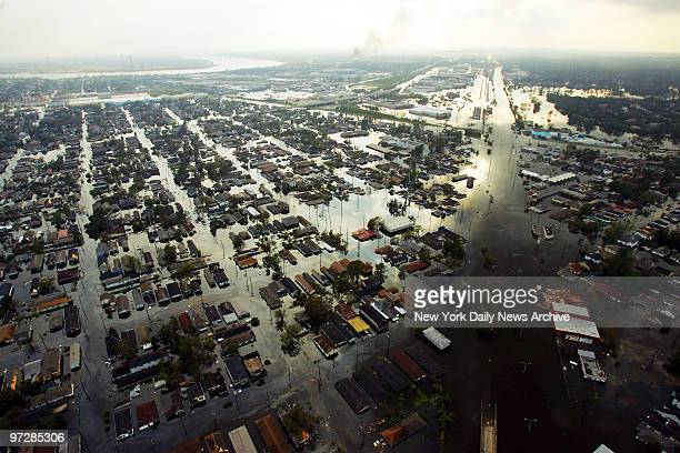 Neighborhoods in New Orleans are completely flooded in the aftermath of Hurricane Katrina. Louisiana Governor, Kathleen Blanco ordered a full-scale...
