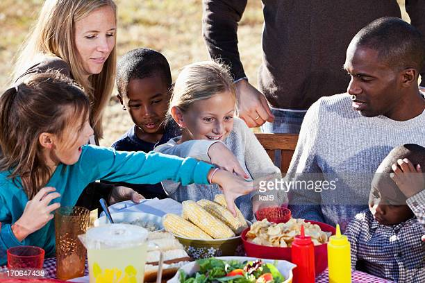 Vecinos que picnic