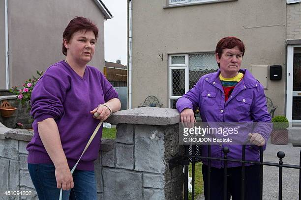 Neighbors in Tuam on June 6 2014 800 skeletons of babies were found in the ruins in St Mary's Home in Tuam Galway county an old Catholic institution...